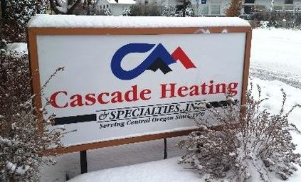 Cascade Heating Sign